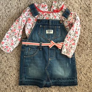 Skirt overall and body suit